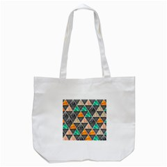 Abstract Geometric Triangle Shape Tote Bag (white)