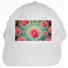 Background Floral Flower Texture White Cap