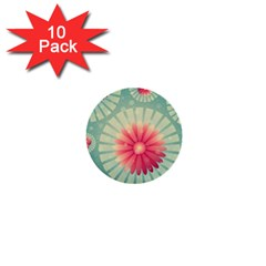 Background Floral Flower Texture 1  Mini Buttons (10 Pack)