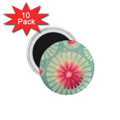 Background Floral Flower Texture 1 75  Magnets (10 Pack)
