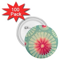 Background Floral Flower Texture 1 75  Buttons (100 Pack)