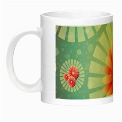 Background Floral Flower Texture Night Luminous Mugs