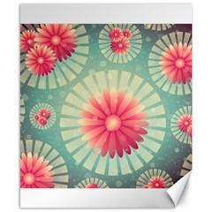 Background Floral Flower Texture Canvas 8  X 10