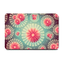 Background Floral Flower Texture Small Doormat