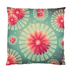 Background Floral Flower Texture Standard Cushion Case (one Side)