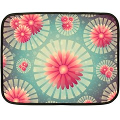 Background Floral Flower Texture Double Sided Fleece Blanket (mini)