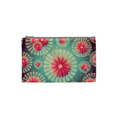 Background Floral Flower Texture Cosmetic Bag (small)