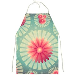 Background Floral Flower Texture Full Print Aprons