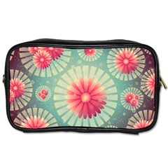 Background Floral Flower Texture Toiletries Bags