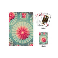 Background Floral Flower Texture Playing Cards (mini)