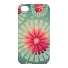 Background Floral Flower Texture Apple Iphone 4/4s Premium Hardshell Case