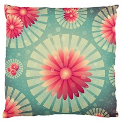 Background Floral Flower Texture Large Cushion Case (one Side)
