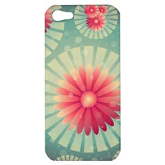 Background Floral Flower Texture Apple Iphone 5 Hardshell Case