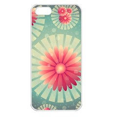 Background Floral Flower Texture Apple Iphone 5 Seamless Case (white)