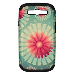 Background Floral Flower Texture Samsung Galaxy S Iii Hardshell Case (pc+silicone)