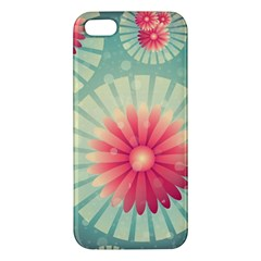 Background Floral Flower Texture Apple Iphone 5 Premium Hardshell Case