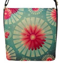 Background Floral Flower Texture Flap Messenger Bag (s)