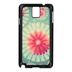Background Floral Flower Texture Samsung Galaxy Note 3 N9005 Case (black)