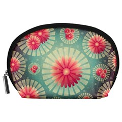 Background Floral Flower Texture Accessory Pouches (large)