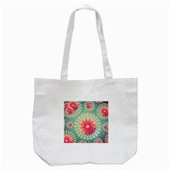 Background Floral Flower Texture Tote Bag (white)