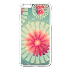 Background Floral Flower Texture Apple Iphone 6 Plus/6s Plus Enamel White Case