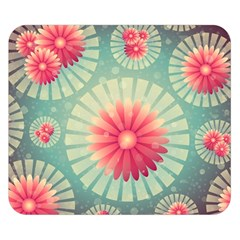 Background Floral Flower Texture Double Sided Flano Blanket (small)
