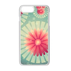 Background Floral Flower Texture Apple Iphone 8 Plus Seamless Case (white)