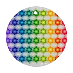 Background Colorful Geometric Ornament (round)