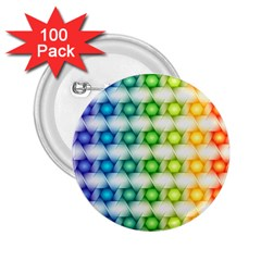 Background Colorful Geometric 2 25  Buttons (100 Pack)