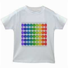 Background Colorful Geometric Kids White T Shirts