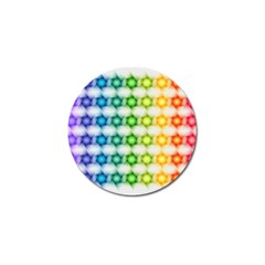 Background Colorful Geometric Golf Ball Marker