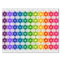 Background Colorful Geometric Rectangular Jigsaw Puzzl