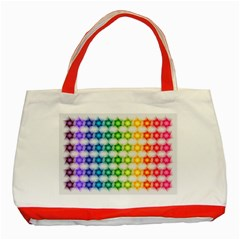Background Colorful Geometric Classic Tote Bag (red)