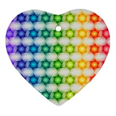 Background Colorful Geometric Heart Ornament (two Sides)