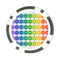 Background Colorful Geometric Poker Chip Card Guard