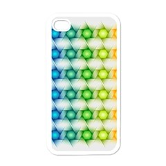 Background Colorful Geometric Apple Iphone 4 Case (white)