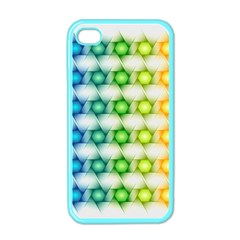 Background Colorful Geometric Apple Iphone 4 Case (color)