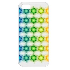 Background Colorful Geometric Apple Iphone 5 Seamless Case (white)