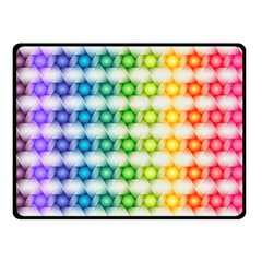Background Colorful Geometric Double Sided Fleece Blanket (small)