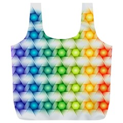 Background Colorful Geometric Full Print Recycle Bags (l)