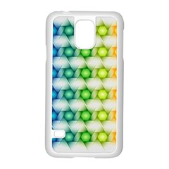 Background Colorful Geometric Samsung Galaxy S5 Case (white)