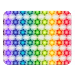Background Colorful Geometric Double Sided Flano Blanket (large)