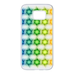 Background Colorful Geometric Samsung Galaxy S7 Edge White Seamless Case