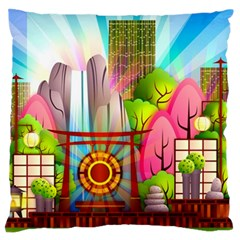 Zen Garden Japanese Nature Garden Standard Flano Cushion Case (two Sides)
