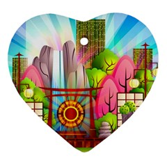 Zen Garden Japanese Nature Garden Ornament (heart)