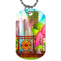 Zen Garden Japanese Nature Garden Dog Tag (two Sides)