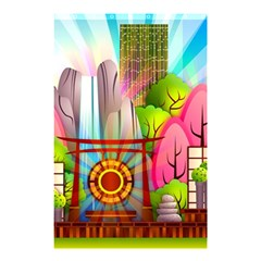 Zen Garden Japanese Nature Garden Shower Curtain 48  X 72  (small)