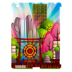 Zen Garden Japanese Nature Garden Apple Ipad 3/4 Hardshell Case (compatible With Smart Cover)