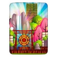 Zen Garden Japanese Nature Garden Samsung Galaxy Tab 3 (10 1 ) P5200 Hardshell Case