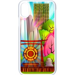 Zen Garden Japanese Nature Garden Apple Iphone X Seamless Case (white)